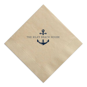 "Split Anchor - Cocktail Napkins - Personalized - Set of 100 - 5"""" x 5"""" by ForYourParty.com"