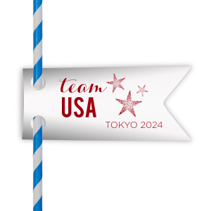 The ever-popular Natural Frost White Double Point Straw Tag with Shiny Convertible Red Foil has a Star Trio graphic and is good for use in Patriotic, Star themed parties and will make your guests swoon. Personalize your party's theme today.