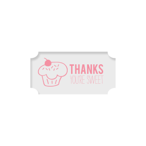 Our beautiful custom Classic Crest White Rectangle Label with Matte Ballet Pink Ink Color has a Cupcake graphic and is good for use in Food, Kid Birthday themed parties and are a must-have for your next event—whatever the celebration!