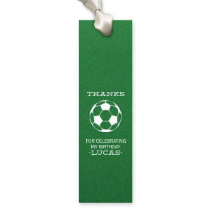 Soccer Thank You Bookmark