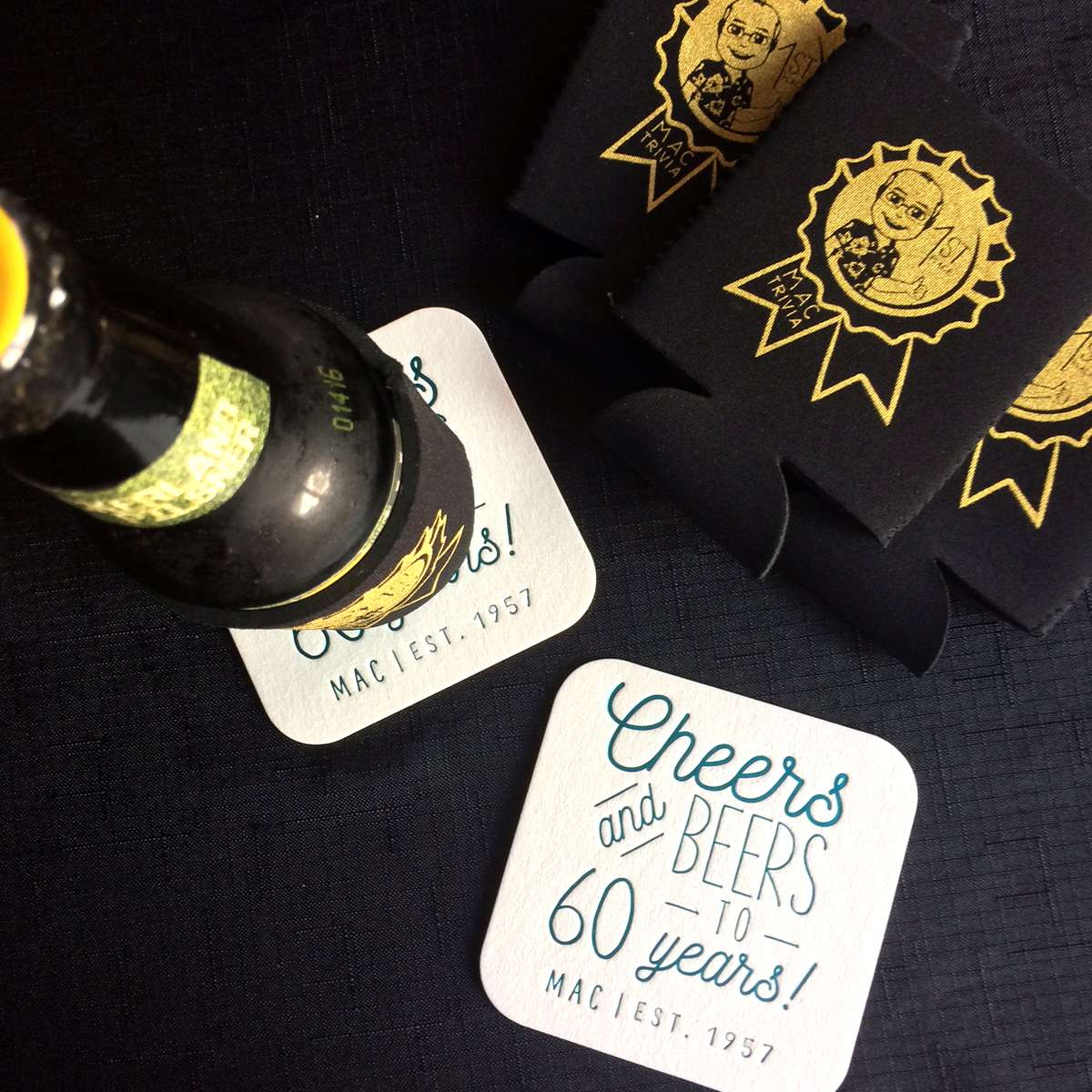 custom koozies and coasters for birthday parties