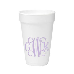 Personalized  12 oz Styrofoam Cup with Matte Lavender Ink couldn't be more perfect. It's time to show off your impeccable taste.