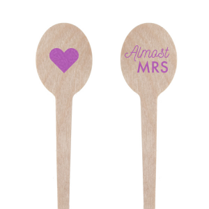 Our beautiful custom Satin Plum Rectangle Stir Stick with Satin Plum Foil Color and Matte White Foil Color has a Solid Heart graphic and is good for use in Wedding themed parties and can be personalized to match your party's exact theme and tempo.