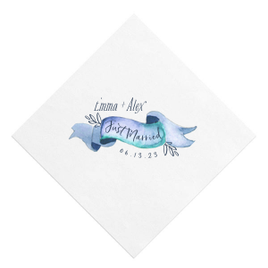 Our beautiful custom White Borderless Photo/Full Color Cocktail Napkin with Matte Navy Ink Digital Print Colors are a must-have for your next event—whatever the celebration!