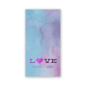 ForYourParty's elegant Watercolor Ocean Party Pocket with Shiny Amethyst Foil has a Heart Solid graphic and is good for use in Hearts, Wedding themed parties and will add that special attention to detail that cannot be overlooked.