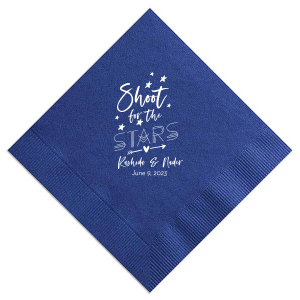 ForYourParty's personalized Watercolor Blue Sky Cocktail Napkin with Matte White Foil will add that special attention to detail that cannot be overlooked.