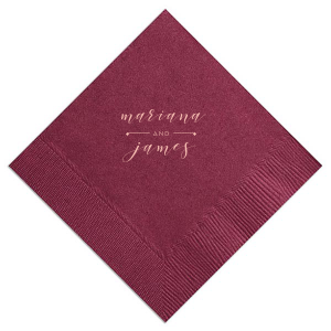 Our personalized Watercolor Sangria Cocktail Napkin with Matte Pastel Pink Foil can be personalized to match your party's exact theme and tempo.