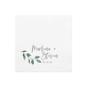 The ever-popular White Photo/Full Color Cocktail Napkin with Matte Slate Gray Ink Digital Print Colors can't be beat. Showcase your style in every detail of your party's theme!