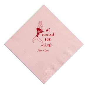 The ever-popular Watercolor Rose Cocktail Napkin with Shiny Convertible Red Foil has a Mermaid graphic and is good for use in Trendy, Beach/Nautical, Outdoors themed parties and will give your party the personalized touch every host desires.