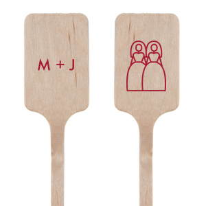 Two Brides Initial Stir Stick
