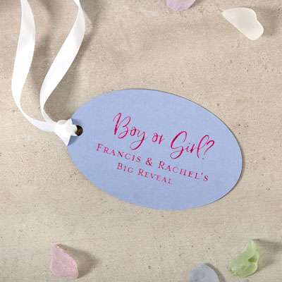 Large Oval Gift Tag