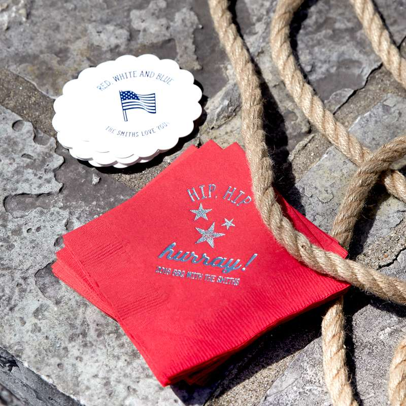 4th of july napkins and coasters