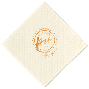 Our custom Woven Vanilla Cocktail Napkin with Shiny Copper Foil has a Badge Frame 2 graphic and is good for use in Frames themed parties and can be customized to complement every last detail of your party.