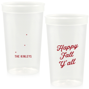 Happy Fall Y'all Stadium Cup