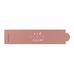 Our personalized Poptone Peach Napkin Ring with Matte White Foil Color has a Simple Heart Flourish graphic and is good for use in Love, Heart, Wedding themed parties and will look fabulous with your unique touch. Your guests will agree!