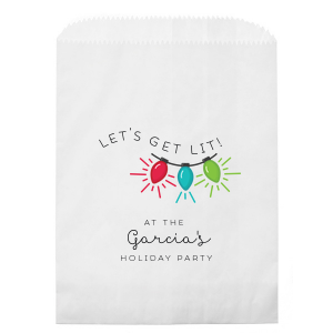 ForYourParty's elegant White Photo/Full Color Party Bag with Matte Black Ink Digital Print Colors will impress guests like no other. Make this party unforgettable.