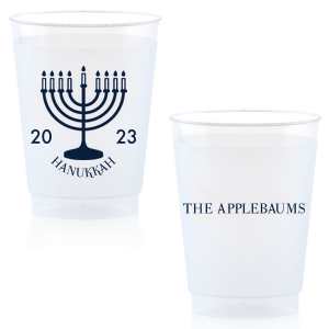 Our custom Matte Navy Ink 16 oz Frost Flex Cup with Matte Navy Ink Print Color has a Menorah graphic and is good for use in Jewish Symbols, Holiday themed parties and couldn't be more perfect. It's time to show off your impeccable taste.