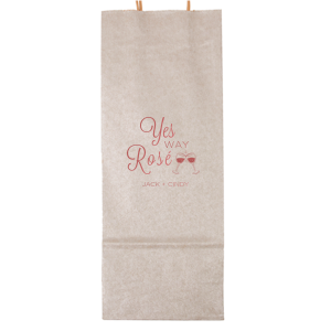 ForYourParty's personalized Metallic Silver Wine Gift Bag with Shiny Rose Quartz Foil Color has a Wine Toast graphic and is good for use in Drinks themed parties and will give your party the personalized touch every host desires.