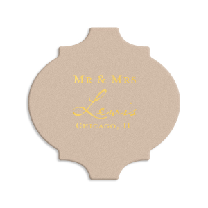 Modern Vintage Mr & Mrs Coaster