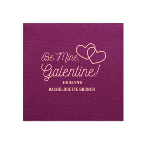Personalized Watercolor Sangria Cocktail Napkin with Matte Pastel Pink Foil has a Interlocked Hearts graphic and is good for use in Hearts, Pairs, Wedding themed parties and couldn't be more perfect. It's time to show off your impeccable taste.