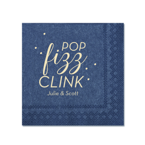ForYourParty's personalized Watercolor Sea Glass Patterned Cocktail Napkin with Matte Ivory Foil can't be beat. Showcase your style in every detail of your party's theme!