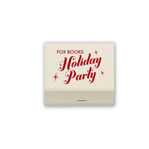 ForYourParty's elegant Shimmer Ivory 30 Strike Matchbook with Shiny Convertible Red Foil can't be beat. Showcase your style in every detail of your party's theme!