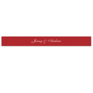"ForYourParty's elegant Convertible Red 5/8"" Satin Ribbon with Matte White Foil can be customized to complement every last detail of your party."