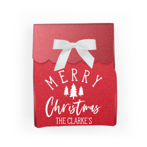 Our custom Stardream Jupiter Red Rectangle Box with Matte White Foil has a Forest graphic and is good for use in Christmas, Floral themed parties and will make your guests swoon. Personalize your party's theme today.