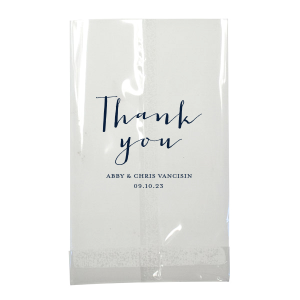 Our custom Matte Navy Large Cellophane Bag with Matte Navy Foil will add that special attention to detail that cannot be overlooked.