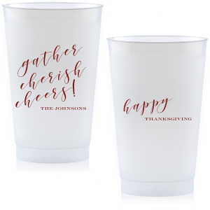 ForYourParty's personalized Matte Merlot Ink 24 oz Frost Flex Cup with Matte Merlot Ink Cup Ink Colors can be customized to complement every last detail of your party.