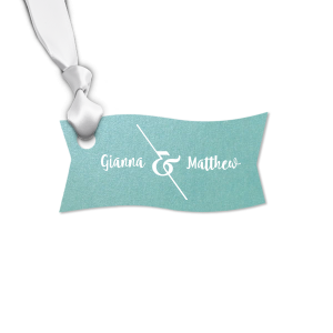 ForYourParty's chic Stardream Chambray Rectangle Gift Tag with Matte White Foil has a Accent Ampersand graphic and is good for use in Couple, Wedding themed parties and will give your party the personalized touch every host desires.