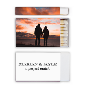 Click Customize More to Upload your Photo and make edits. The ever-popular Photo Matchbox with Matte Black Ink Print Color are a must-have for your next event—whatever the celebration!