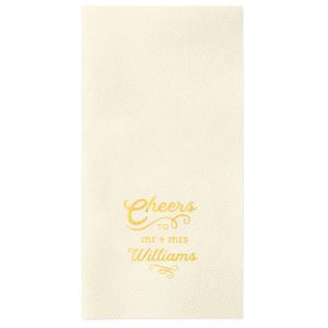 The ever-popular Ivory Borderless Cocktail Napkin with Shiny 18 Kt Gold Foil will look fabulous with your unique touch. Your guests will agree!