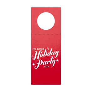 Our beautiful custom Glitter Cherry Red Diamond Gift Tag with Matte White Foil can be customized to complement every last detail of your party.