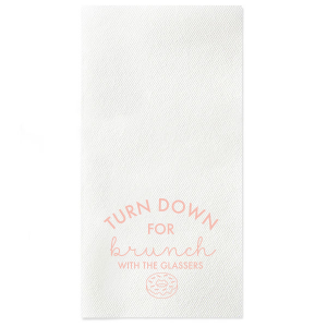 Our custom Dark Turquoise Linen Like Cocktail Napkin with Matte Pastel Pink Foil has a Donut graphic and is good for use in Food, Birthday, Holiday and Brunch themed parties and will impress guests like no other. Make this party unforgettable.