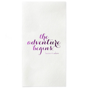 Our Custom Lavender Cocktail Napkin with Shiny Plum Imprint Foil Color is good for use in Wedding themed parties and will impress guests like no other. Make this party unforgettable.
