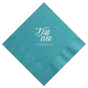 Our custom Teal Cocktail Napkin with Matte White Foil are a must-have for your next event—whatever the celebration!
