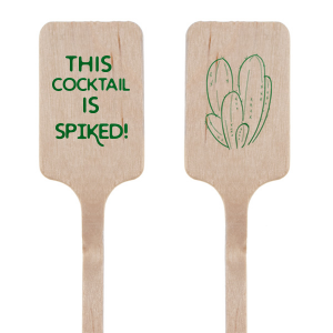 ForYourParty's personalized Shiny Leaf Rectangle Stir Stick with Shiny Leaf Foil has a Cactus 4 graphic and is good for use in Floral, Southwestern themed parties and will give your party the personalized touch every host desires.