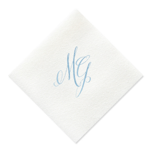 Custom Woven Ocean Woven Cocktail Napkin with Matte White Foil will impress guests like no other. Make this party unforgettable.