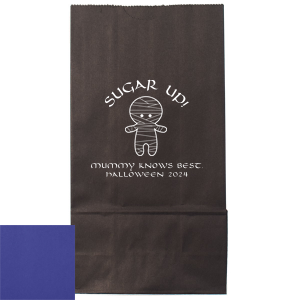 Our custom Bright Orange Goodie Bag with Matte White Foil Color has a Mummy graphic and is good for use in Halloween themed parties and will impress guests like no other. Make this party unforgettable.