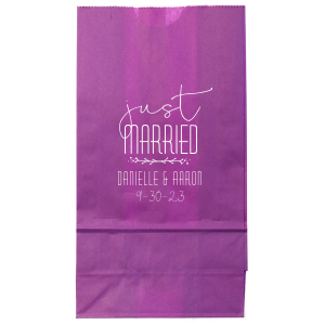 Just Married Twig Bag