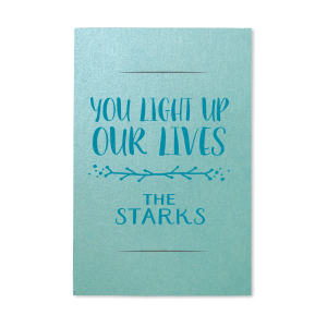 You Light Up Our Lives Sparkler Sleeve