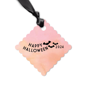 Custom Watercolor Rose Wave Gift Tag with Matte Black Foil has a Bats graphic and is good for use in Halloween, Holiday, Animals themed parties and couldn't be more perfect. It's time to show off your impeccable taste.