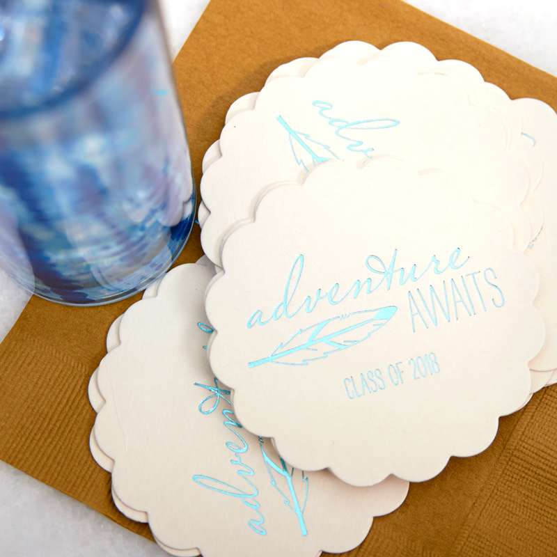 adventure awaits scallop coaster