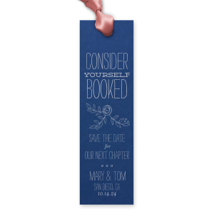 Personalized Natural Royal/Lt. Navy Rectangle Bookmark with Matte Dove Grey Foil Color has a Rose Accent 2 graphic and is good for use in Accents themed parties and can be personalized to match your party's exact theme and tempo.