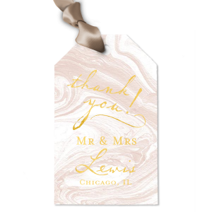 Vintage Modern Mr & Mrs Tag