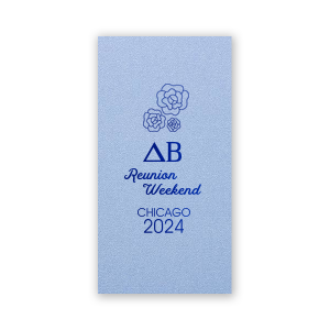 The ever-popular Stardream Chambray Rectangle Bookmark with Shiny Royal Blue Foil has a Romantic Roses Bunch graphic and is good for use in Lovely Press themed parties and are a must-have for your next event—whatever the celebration!