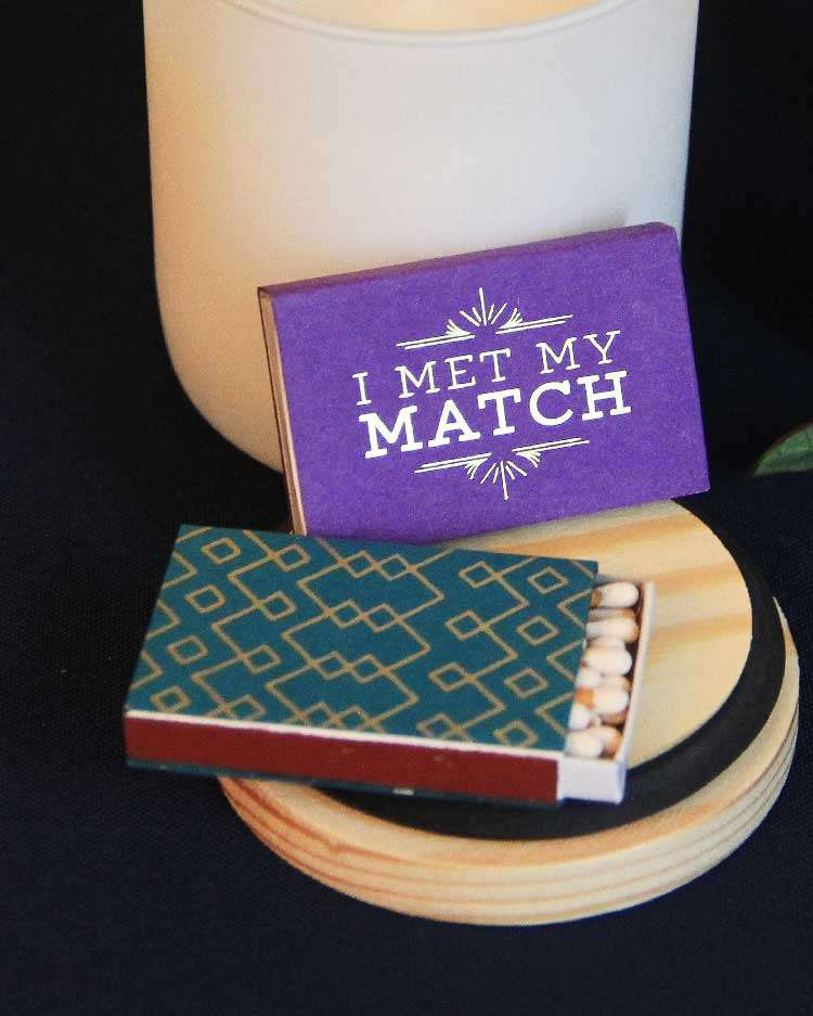 custom wedding matches