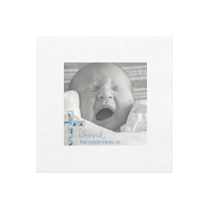 Our custom White Borderless Photo/Full Color Cocktail Napkin with Matte Royal Blue Ink Digital Print Colors are a must-have for your next event—whatever the celebration!