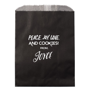 Peace Joy Love Cookies Bag